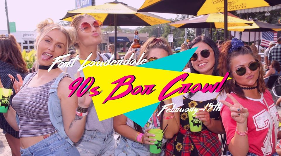Fort Lauderdale 90s Throwback Bar Crawl