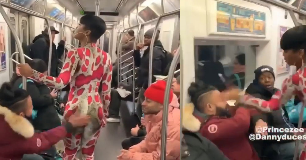 That viral video of a man slapping a woman's ass on the public train, has a back story