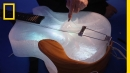 When was the last time you went to a concert with instruments made of ice?